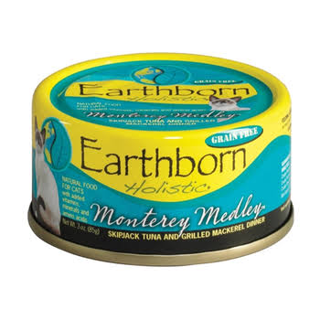 Earthborn Holistic Monterey Medley Wet Cat Food - Skipjack Tuna and Grilled Mackerel Dinner