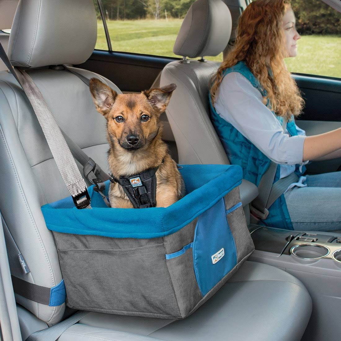 Kurgo Rover Booster Dog Seat, Heather Charcoal