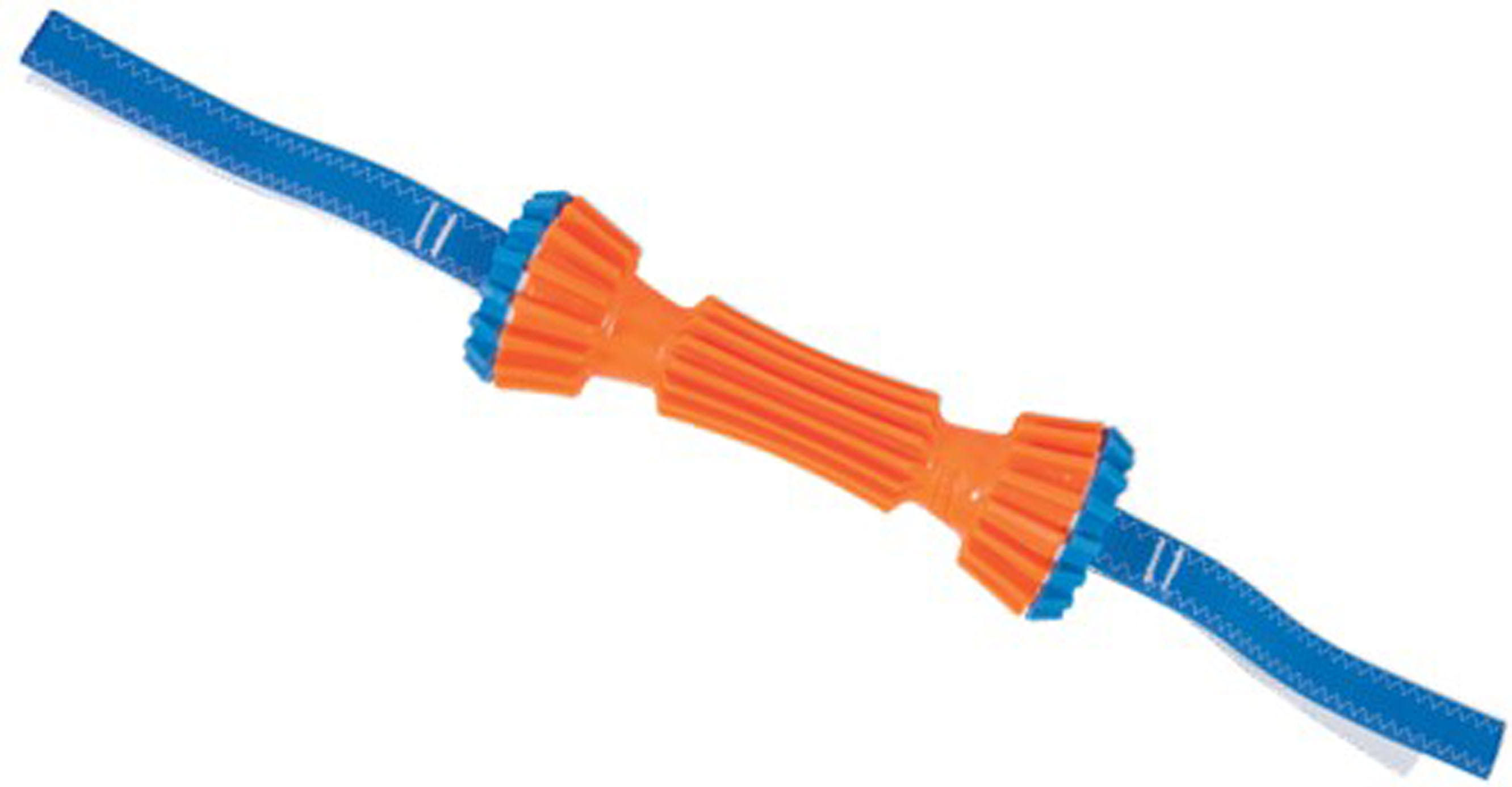 "Chuckit Rugged Bumper Nylon Strap Dog Toy - Orange/Blue, 16"" x 2.5"""
