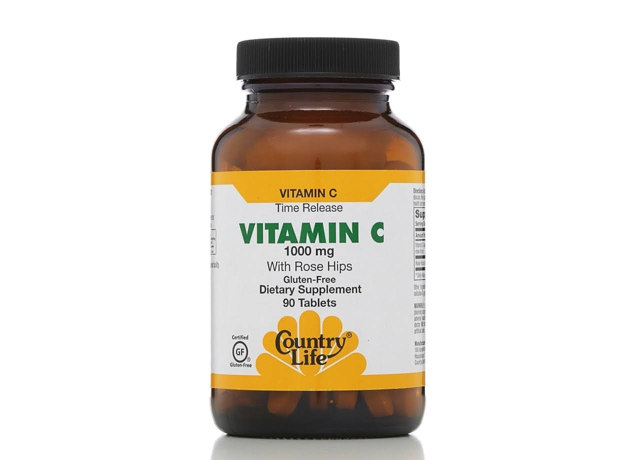 Country Life Vitamin C Supplement 1000Mg - 90 Tablets