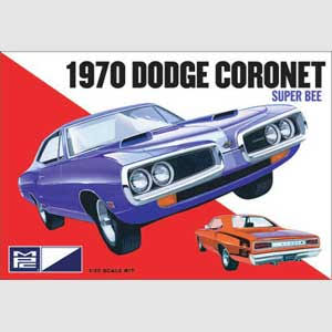 MPC MPC869/12 1970 Dodge Coronet Super Bee Car Plastic Model - 1:25
