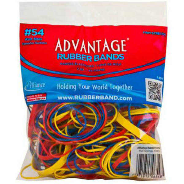 Advantage Assorted Rubber Band - 2oz