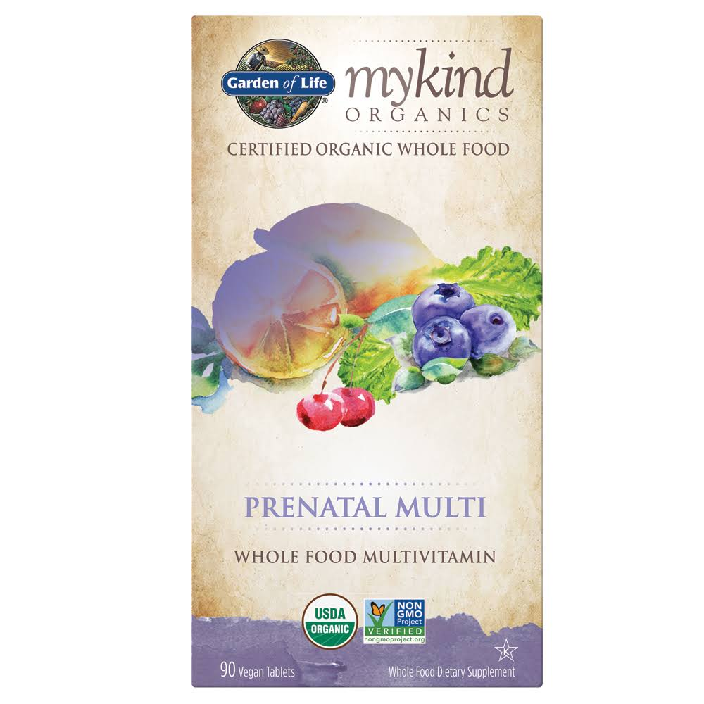 Garden Of Life Mykind Organics Prenatal Multi Whole Food Multivitamin - 90 Tablets