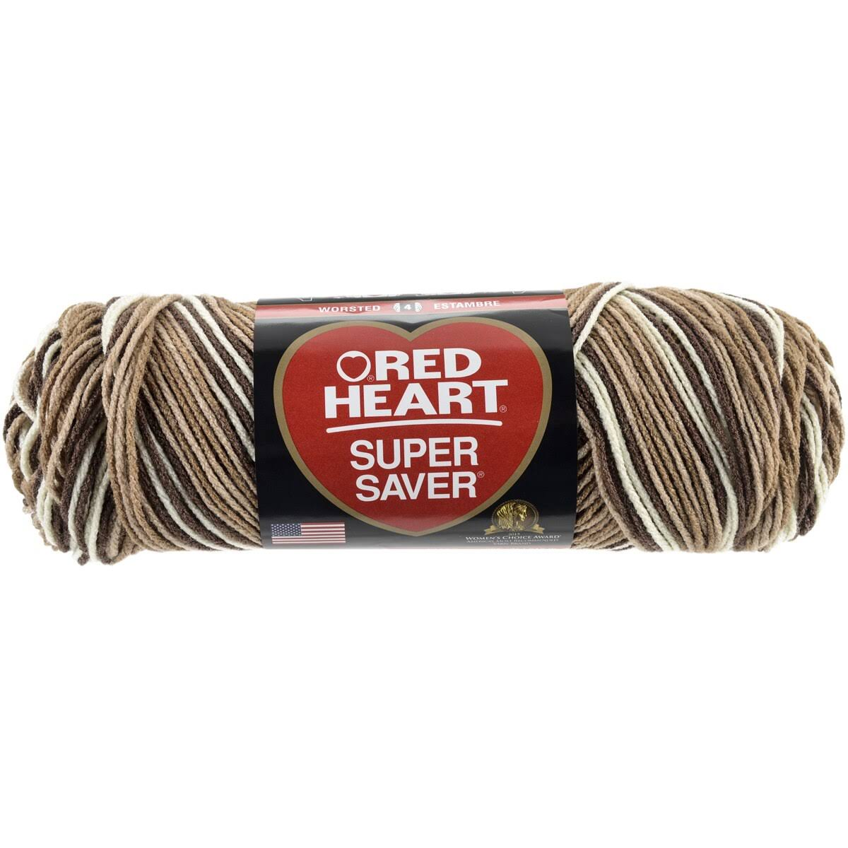 Red Heart Super Saver Yarn - #0992 Shaded Brown, 236yd
