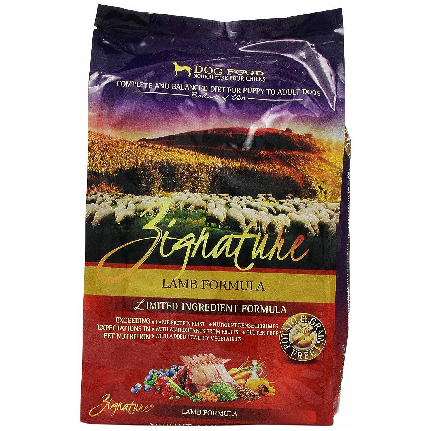 Zignature Lamb Formula Dry Dog Food - 4lb