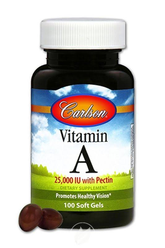 Carlson Labs Vitamin A Supplement with Pectin - 25000 IU, 100 Softgels