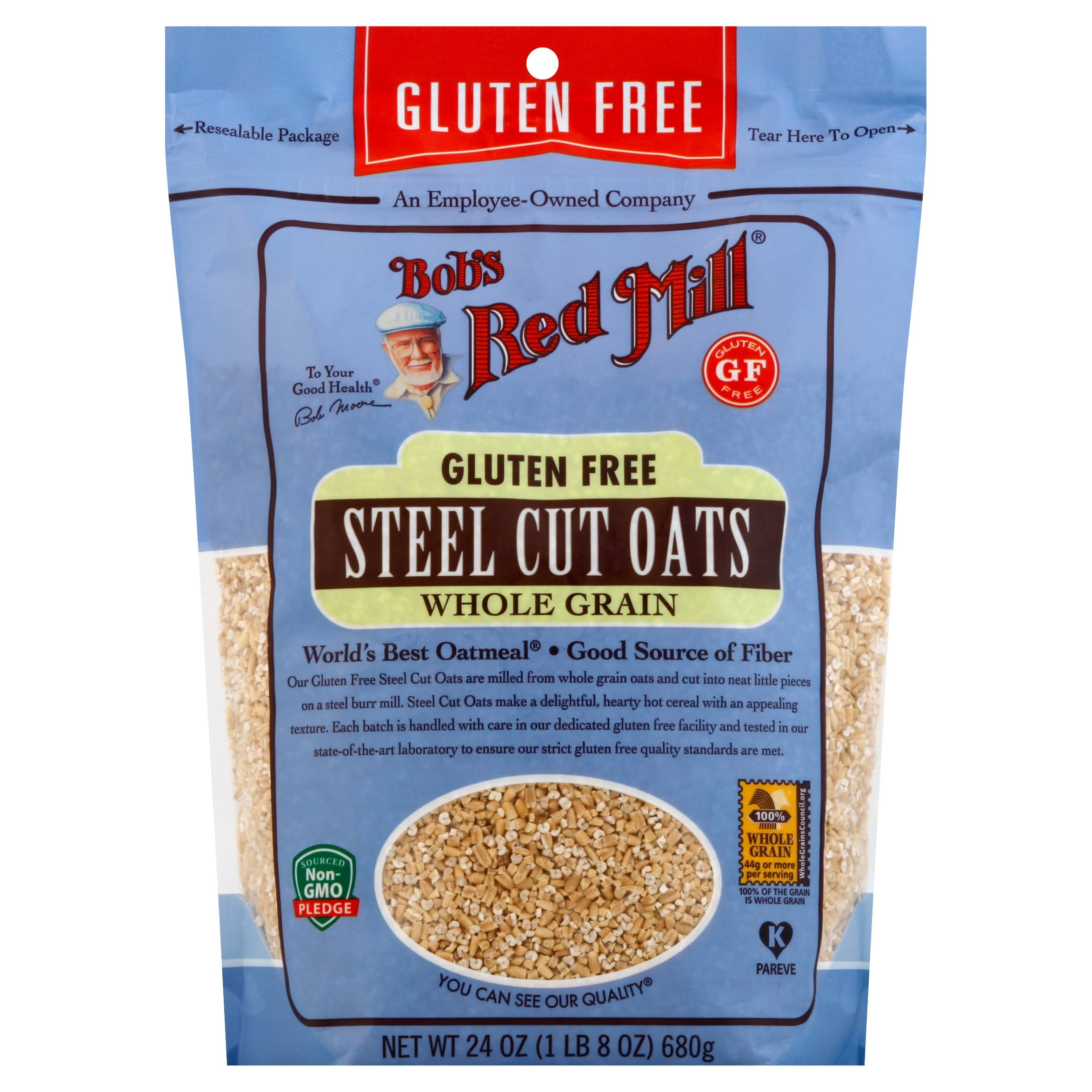 Bobs Red Mill Steel Cut Oats, Whole Grain - 24 oz