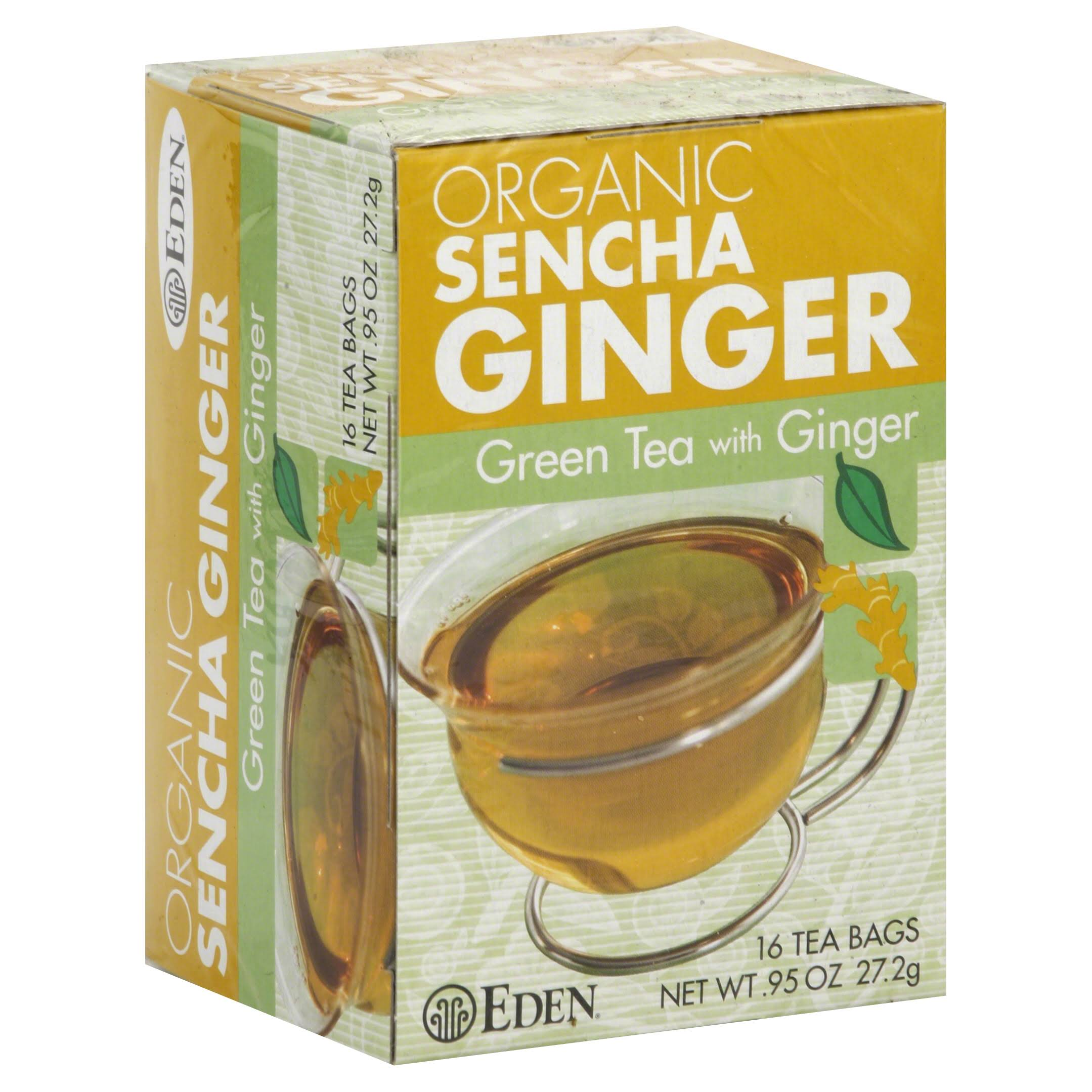 Eden Foods Organic Sencha Ginger Green Tea with Ginger - 16 Tea Bags