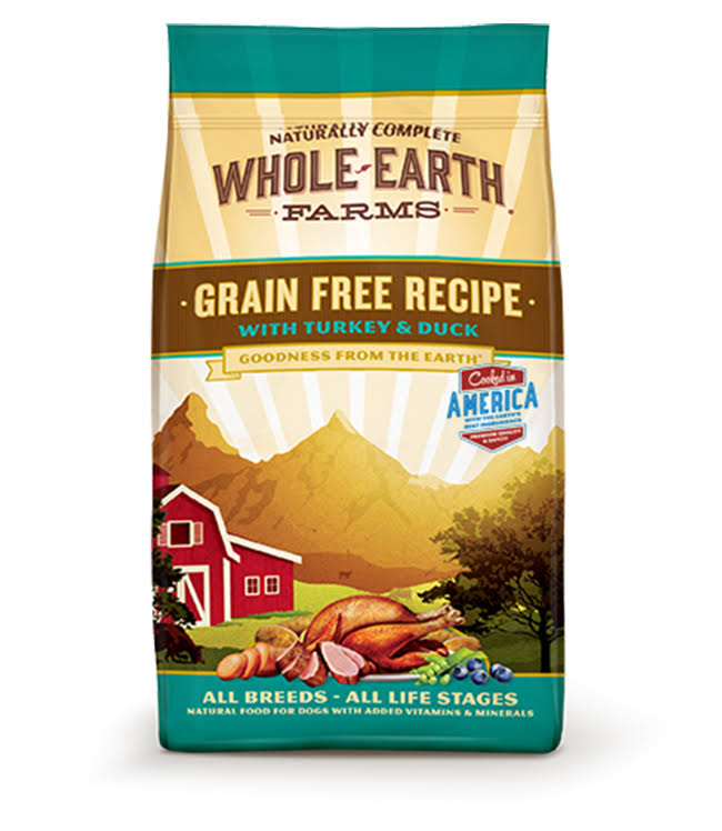 Merrick Whole Earth Farms Grain Dry Dog Food - Turkey & Duck, 25lb