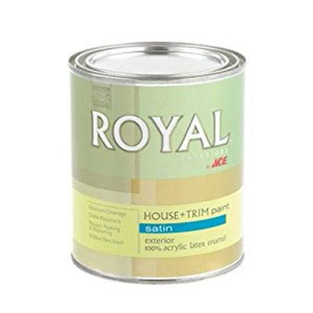 Ace Royal Exterior House Paint, Satin - 1 qt can