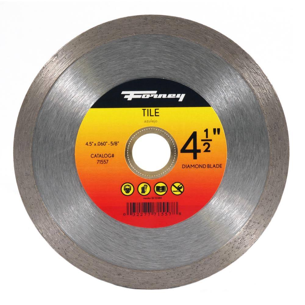 Forney Diamond Tile Cutting Blade with Continuous Rim - 4 1/2""