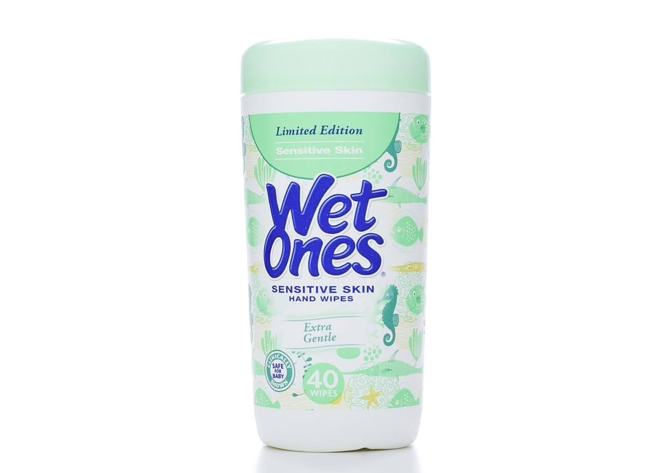 Wet Ones Limited Edition Sensitive Skin Hand Wipes - Extra Gentle, x40