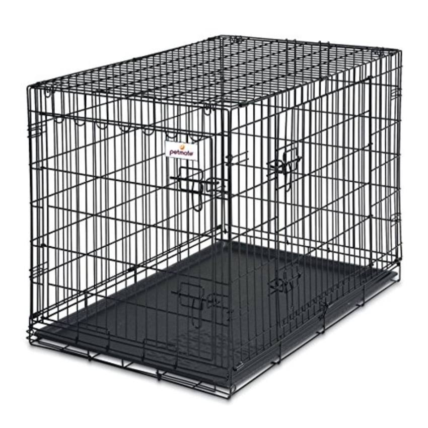 Petmate 2-Door Training Retreats Wire Kennel - For Dogs, 50-70lb, 34""
