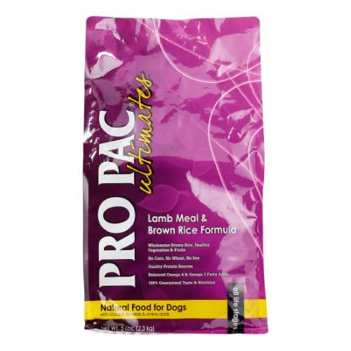 Pro Pac Ultimates All Stages Dry Dog Food - Lamb Meal & Brown Rice Formula, 5 Lb