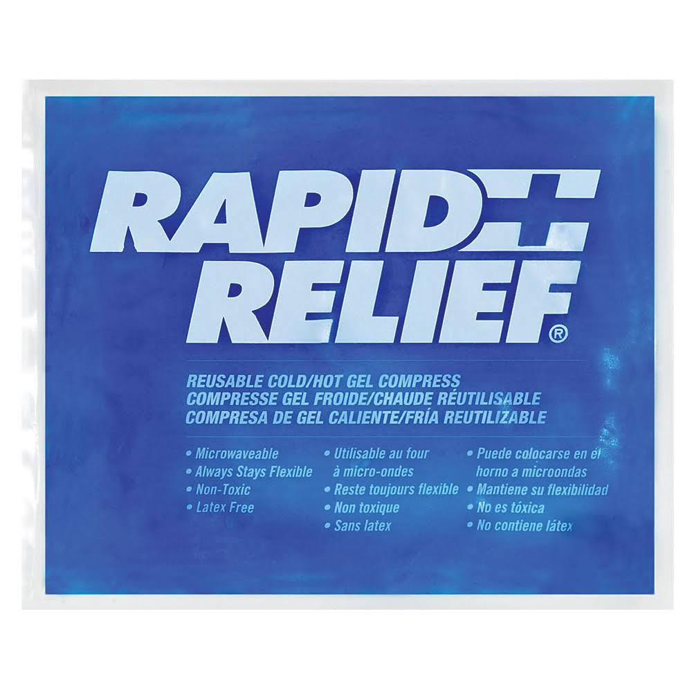 "Rapid Relief First Aid Reusable Hot Cold Gel Compress - 9"" x 11"