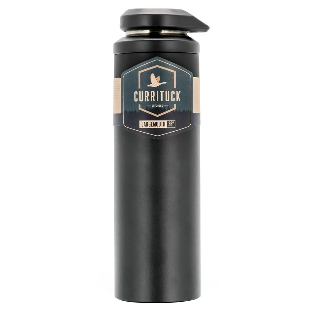 Camco 51950 36 oz Currituck Wide Mouth Beverage Bottle, Charcoal