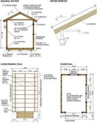 free shed plans 8x12 gable overhang eave jamb ramp and door