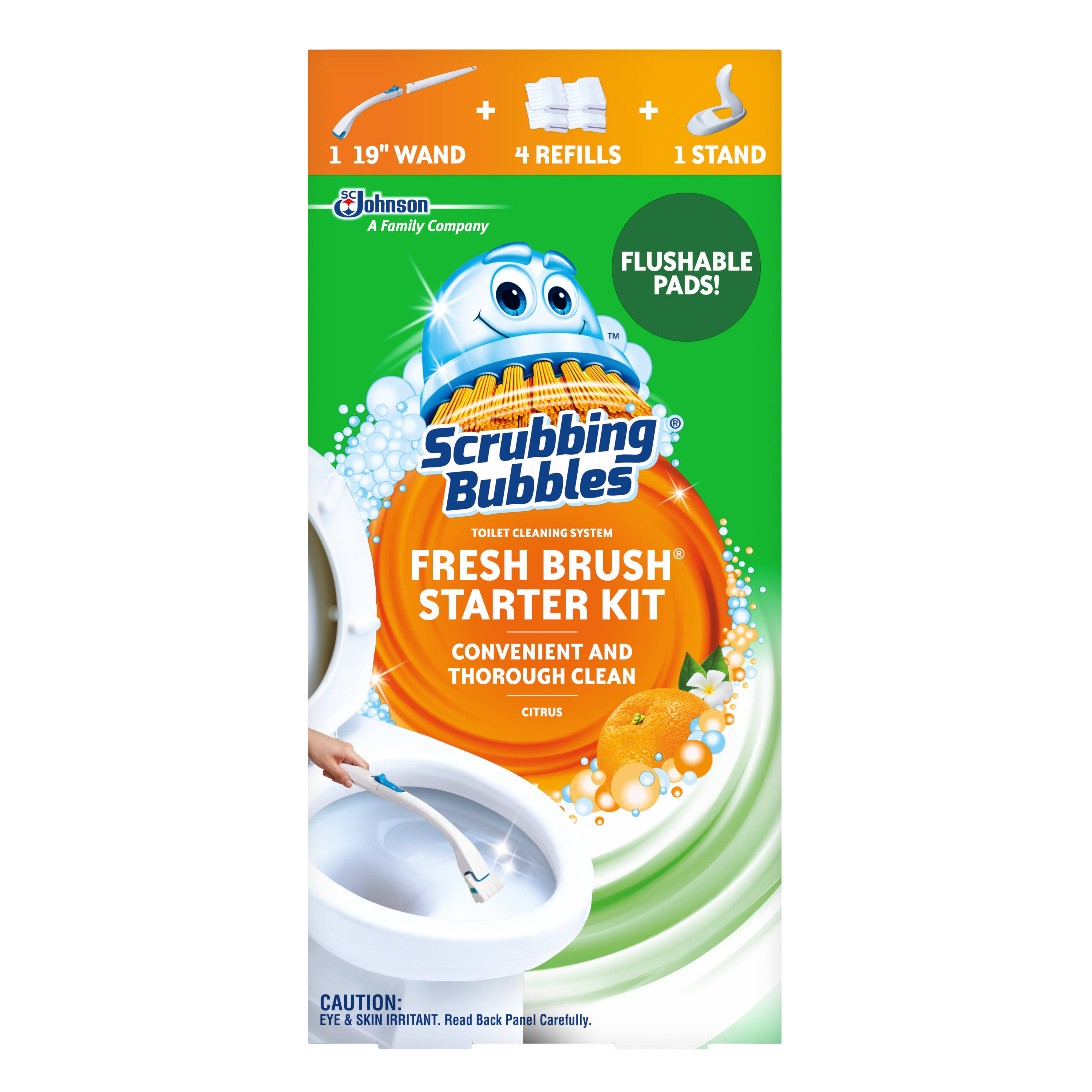 Scrubbing Bubbles Fresh Brush Toilet Cleaning System Starter Kit - Citrus