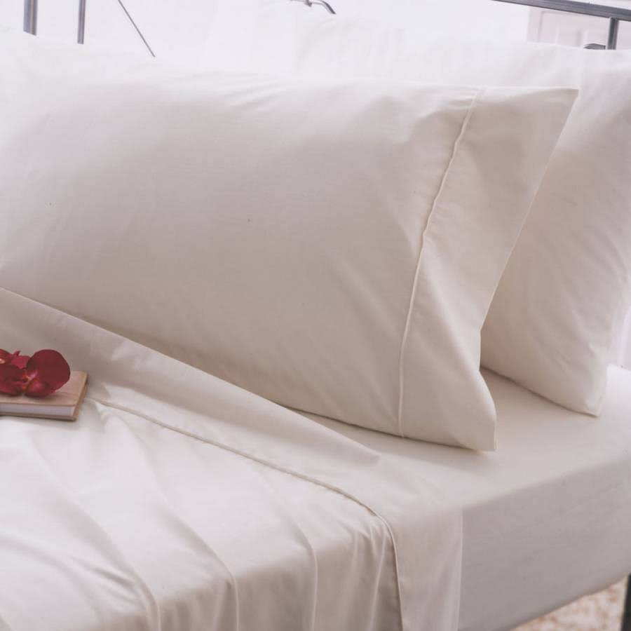Belledorm 200 Thread Count Egyptian Cotton Flat Sheet King - Ivory