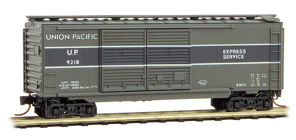 Micro-Trains N 02300270 40' Standard Box Car with Double Doors, Union Pacific #9218