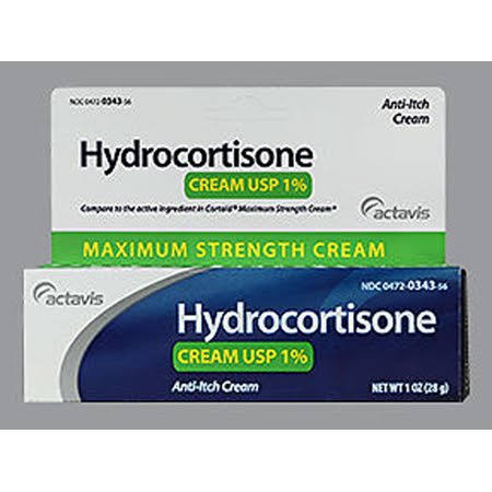 Actavis Hydrocortisone Cream 1% Maximum Strength - 1 oz, White