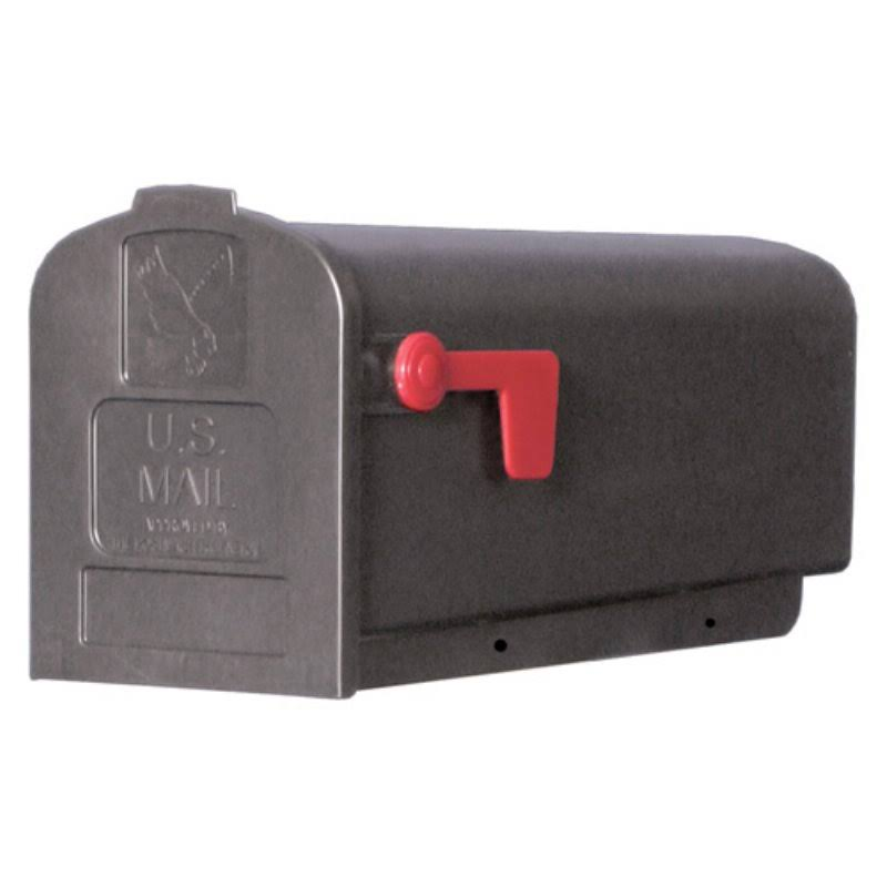 "Solar Group PL10B Poly Mailbox - Polypropylene Black, 19 3/8"" X 8 1/8"" X 9 1/2"""