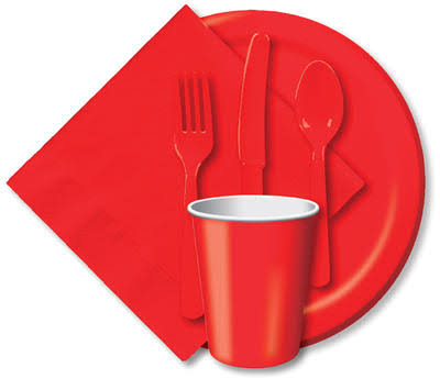 "Creative Converting Classic Red Paper Dessert Plates, 6.75"" - 24 count"