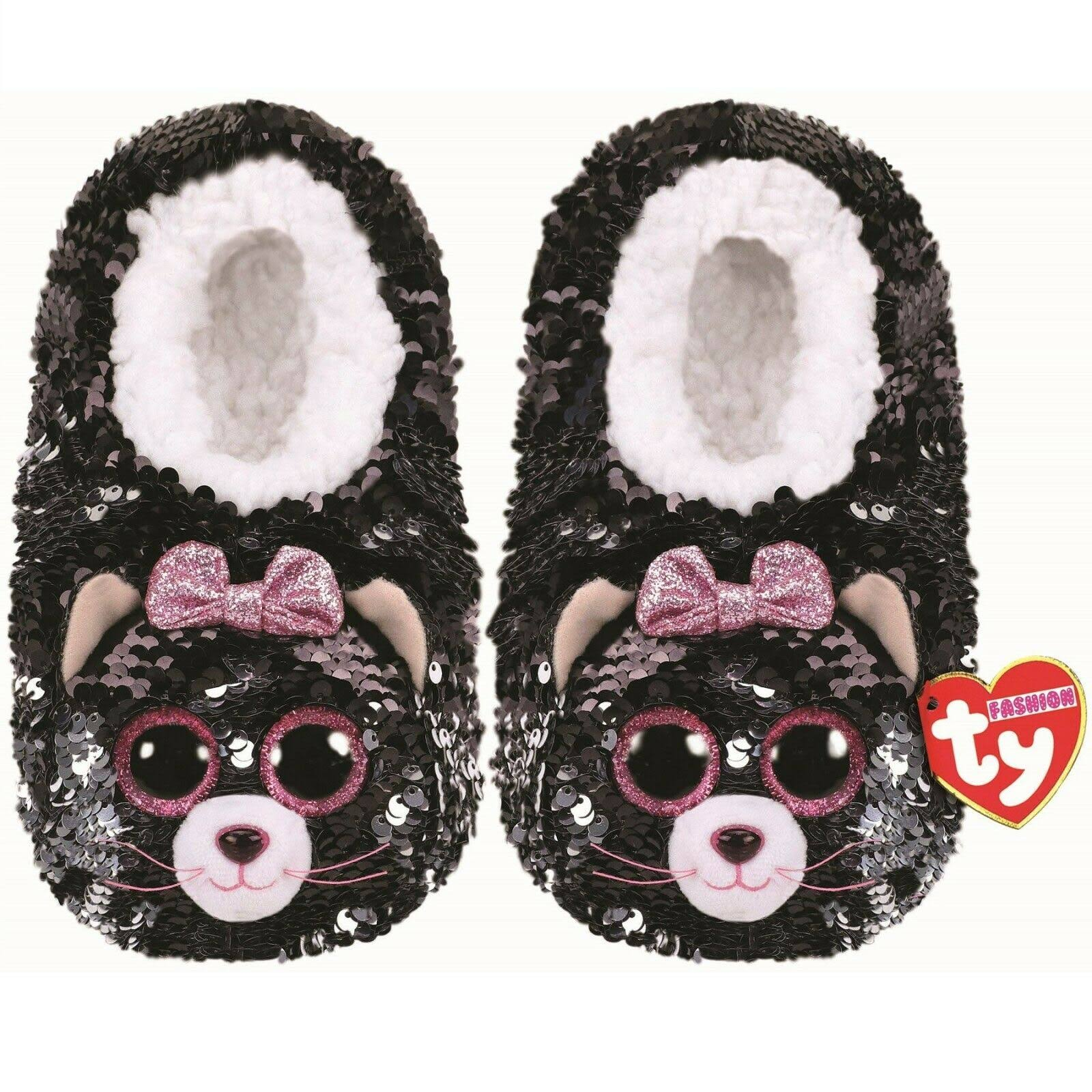 Ty Kiki Cat Flip Slippers Large