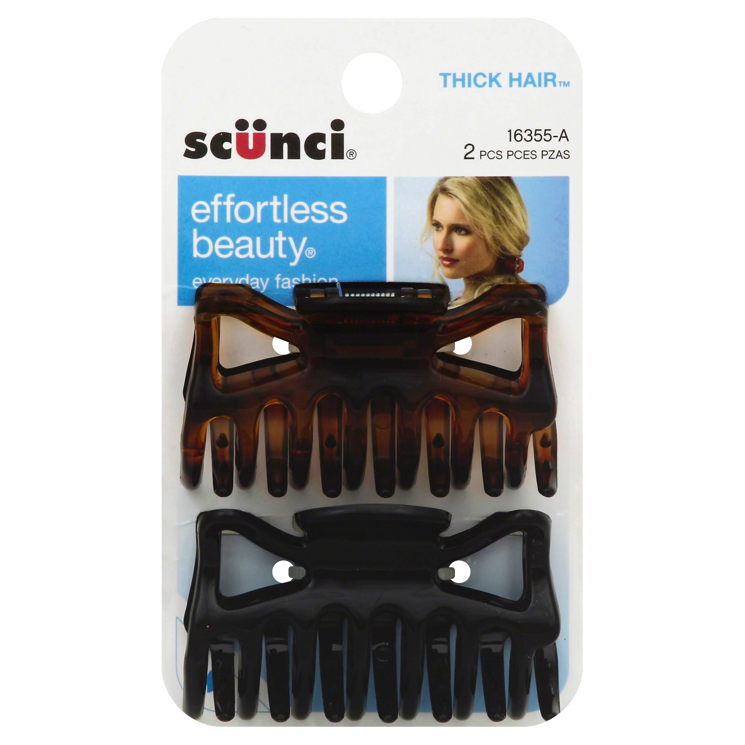 Scunci Effortless Beauty Thick Hair Clips - 2pk