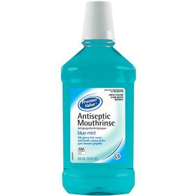 Premier Value Antiseptic Mouthwash - Blue, 16.9oz