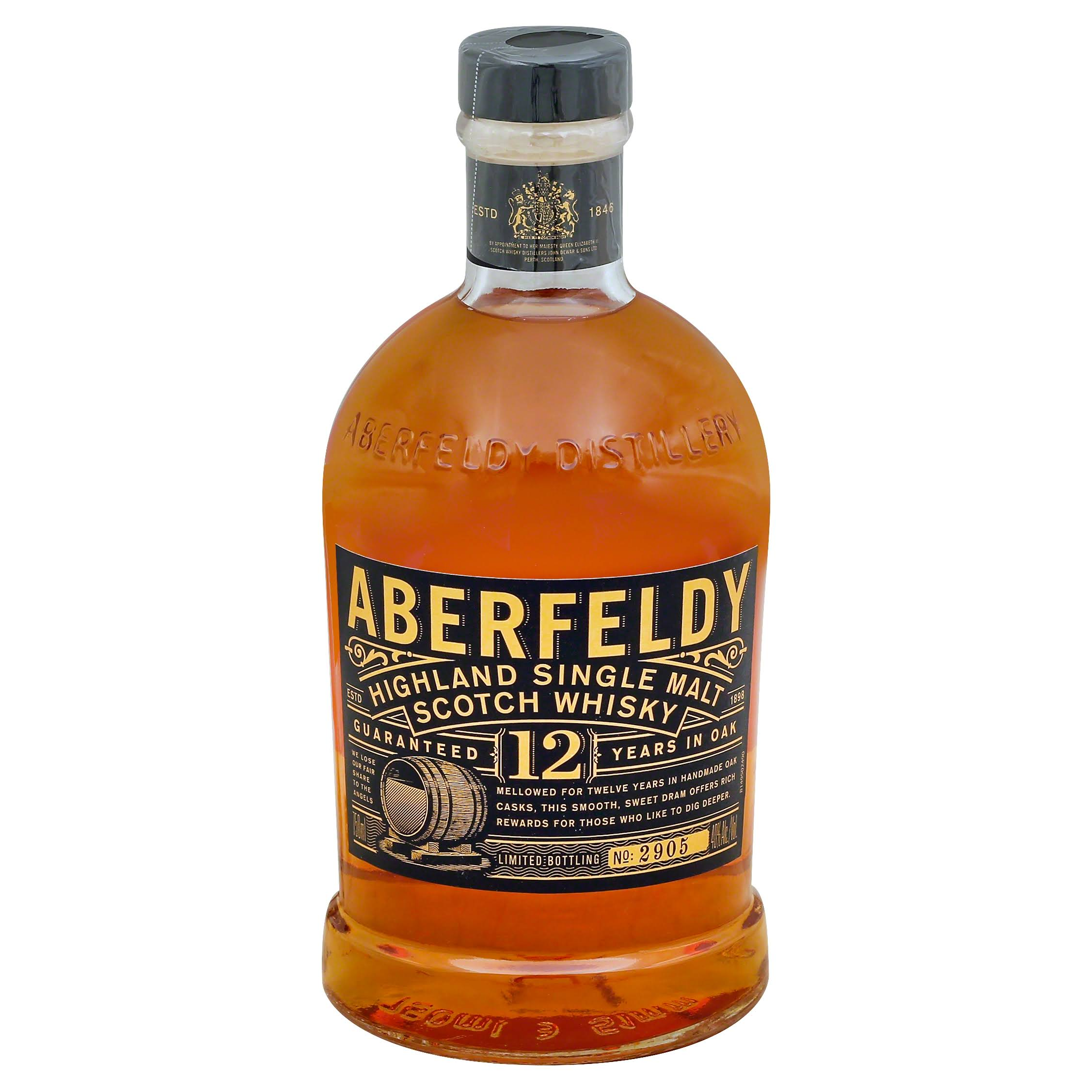 Aberfeldy Single Malt Scotch Whiskey