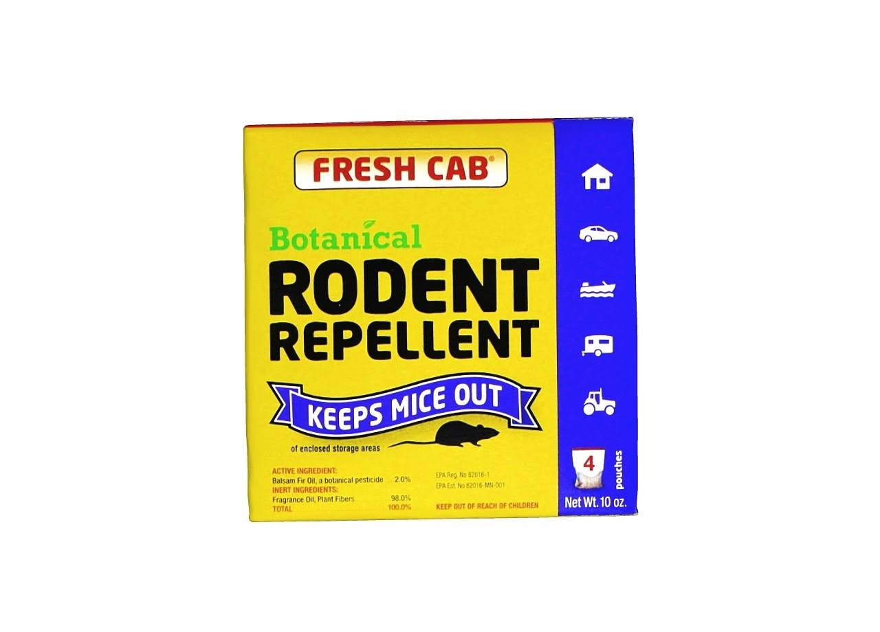 Fresh Cab Rodent Mice Repellent - 4 Pack