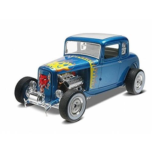 Revell Scale Vehicle Car Model Toy Kit - '32 Ford 5 Window Coupe