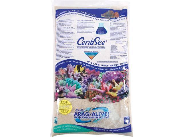 CaribSea Arag-Alive 20-Pound Special Grade Reef Sand - Bimini Pink