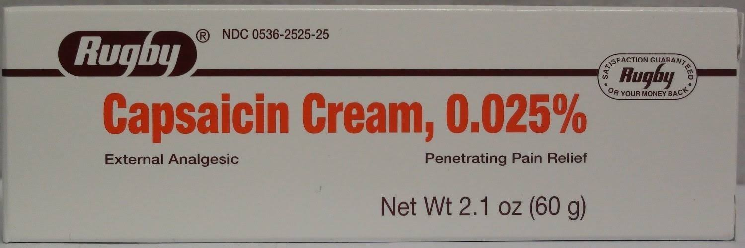 Rugby Capsaicin Cream 0.025% Arthritis Pain Relief