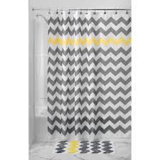 Black Sheer Curtains Walmart by Interdesign Chevron Shower Curtain Walmart Com