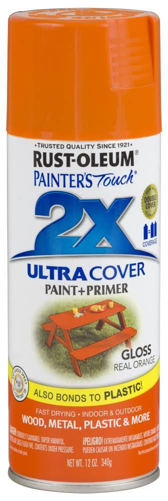 Rust-Oleum Painter's Touch Ultra Cover Paint & Primer Spray Paint - Real Orange