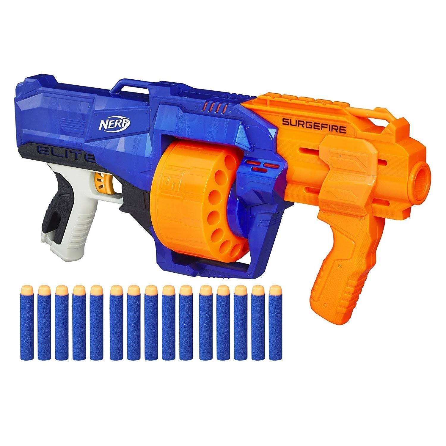 Nerf N-Strike Elite SurgeFire Rotating Drum Pump Dart Blaster - 90'