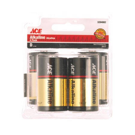 Ace D Alkaline Batteries - 4 Pack
