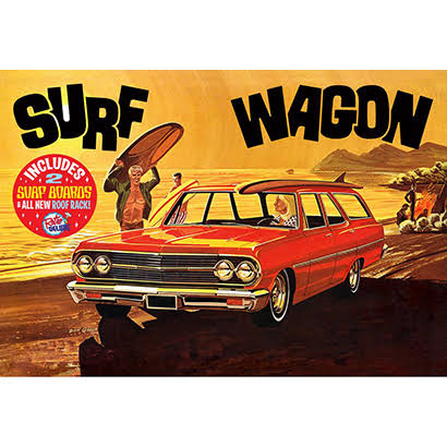 Amt 1965 Chevy Chevelle Surf Wagon Model Car Kit