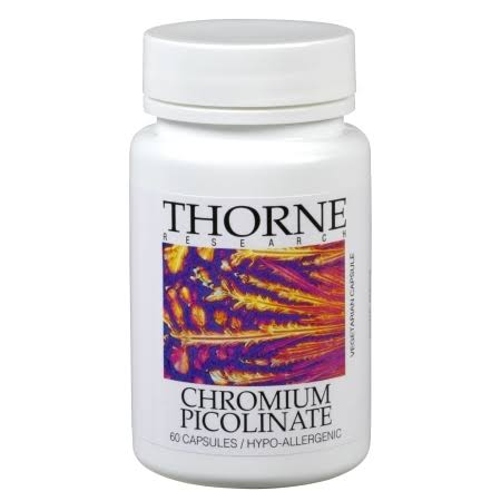 Thorne Research Chromium Picolinate Supplement - 60 Vegetarian Capsules