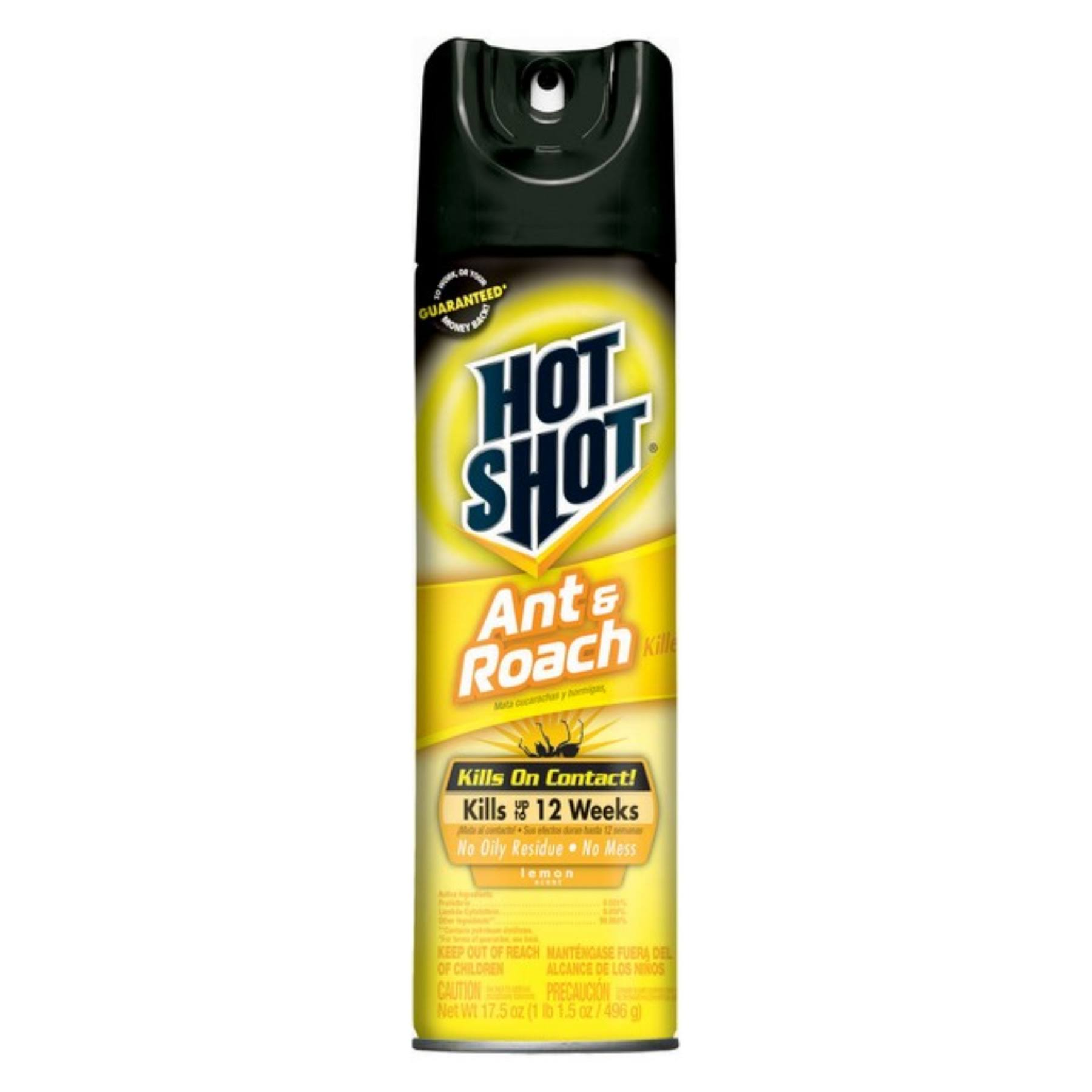 Hot Shot Lemon Scent Ant and Roach Plus Germ Killer - 17.5oz