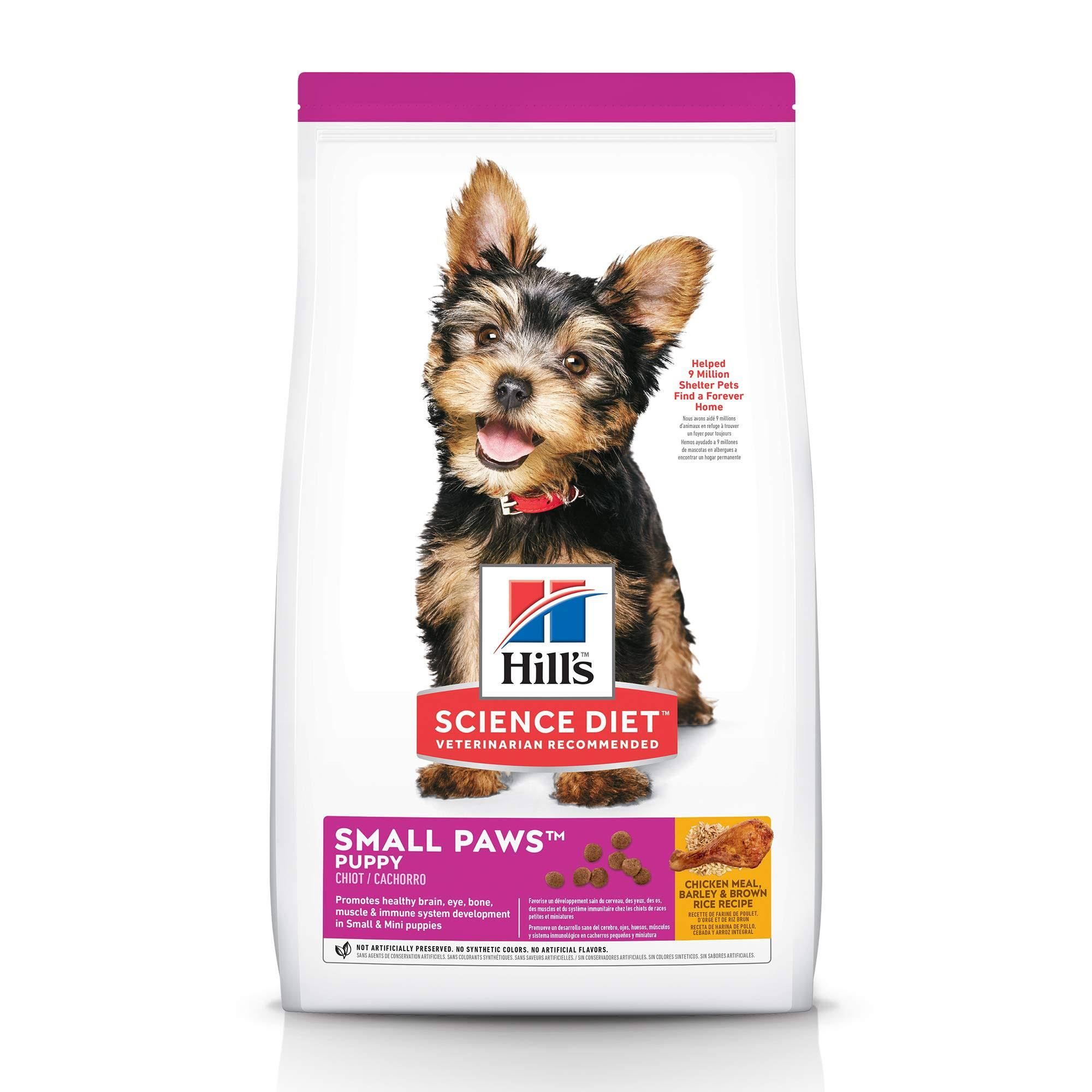 Hill's Science Diet Premium Natural Dog Food - Small & Toy Breed, Chicken Meal & Barley, 15.5lbs