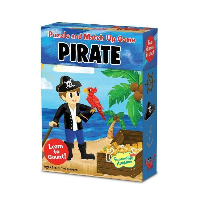 Peaceable Kingdom Pirate Puzzle and Match Up Game