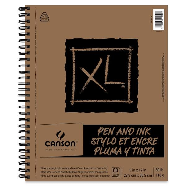 "Canson XL C400100928 Pen and Ink Pad 9"" x 12"""