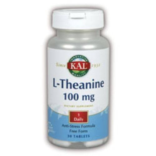 Kal L-Theanine - 100 mg, 30 Tablets