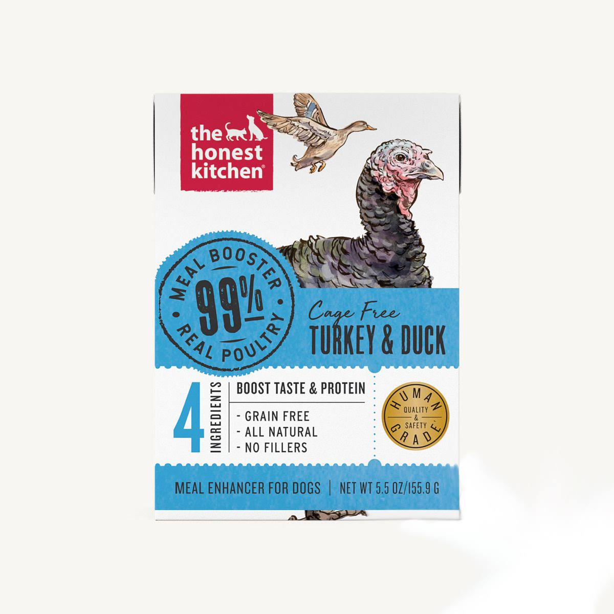 The Honest Kitchen 99% Turkey & Duck Wet Food Topper for Dogs, 5.5oz