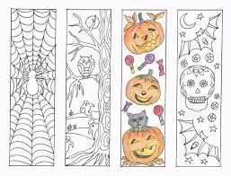 Childrens Halloween Books Pdf by Coloring Bookmarks Halloween Coloring Bookmarks Pdf