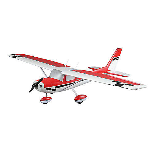 E-Flite EFL1450 Carbon-Z Cessna 150 BNF Basic RC Plane - Red/White, 2.1m