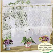 Pink Ruffle Curtain Topper by Easy Crochet Ruffled Splendor Curtain Valance Free Stylesidea